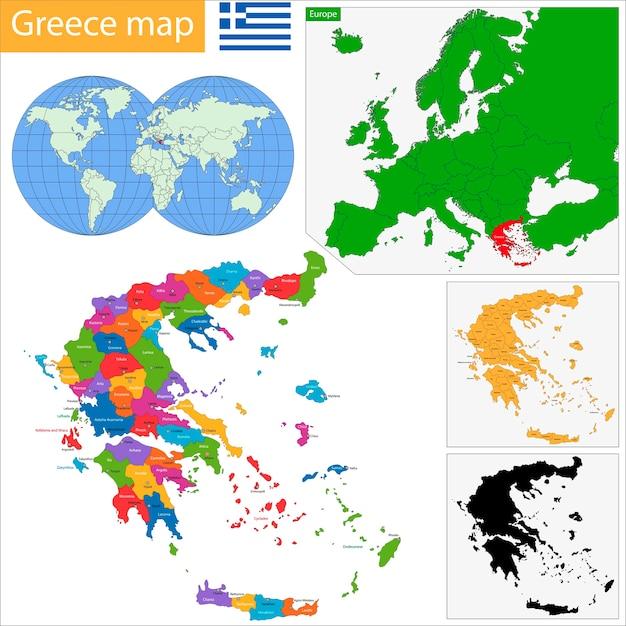 Greece map Vector | Premium Download