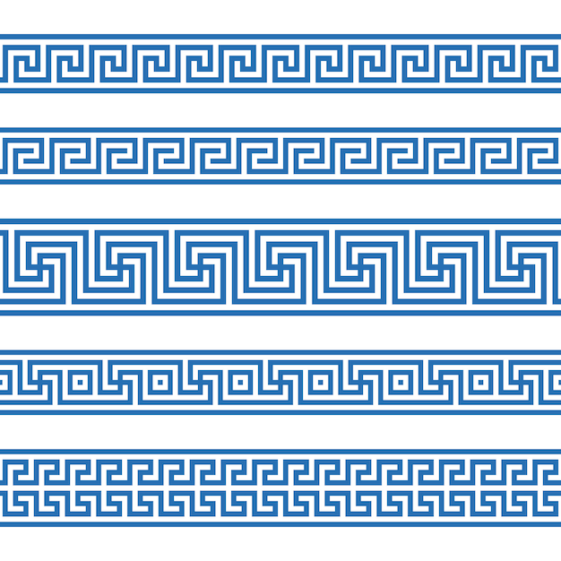 Греческий бесшовный фон Premium векторы