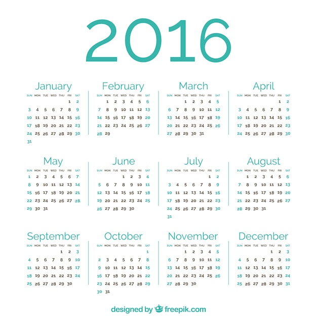 Calendar 2016 Vectors, Photos and PSD files | Free Download