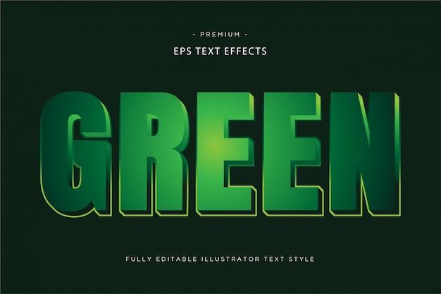 Green 3d text effect Premium Vector