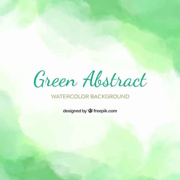 Green abstract background in watercolor style Premium Vector