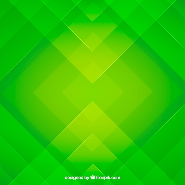 Green Abstract Background With Flat Design Vector