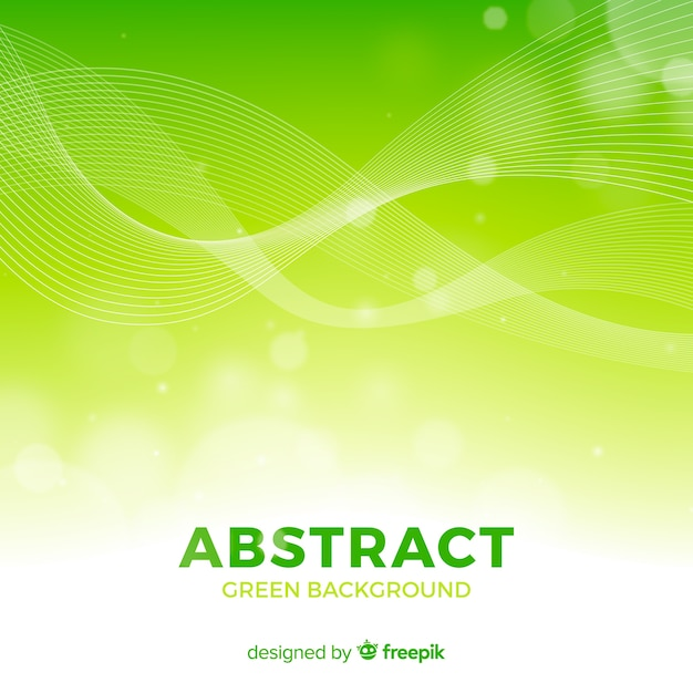 Green abstract background with modern style Premium Vector