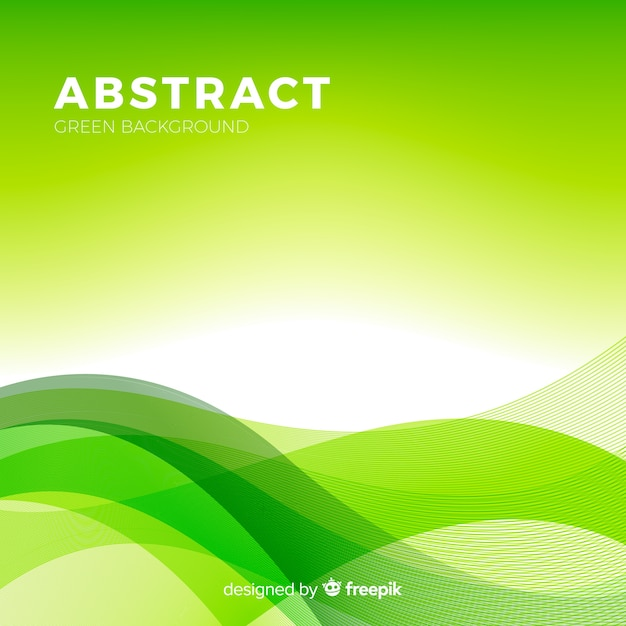 Green Abstract Background With Modern Style Vector