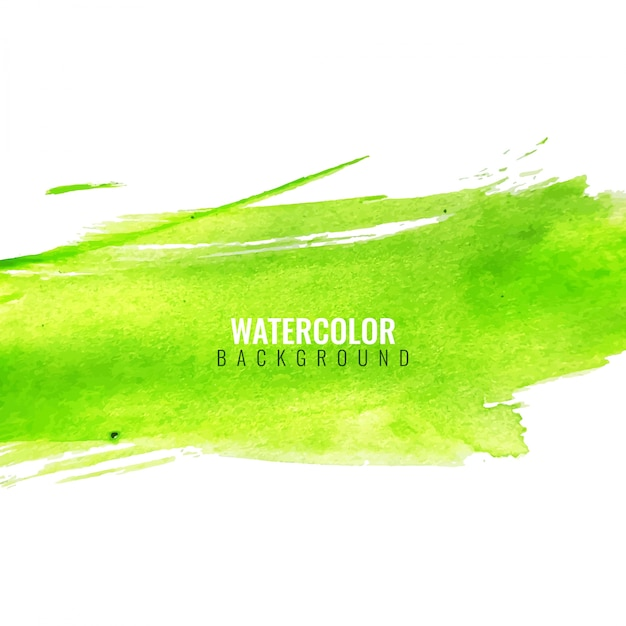 Green abstract background with watercolors Free Vector
