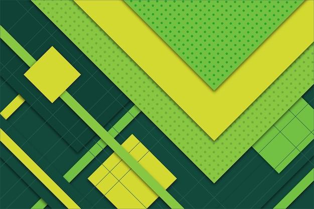 Sfondo geometrico astratto verde Vettore gratuito