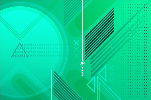 Green abstract geometric background Free Vector