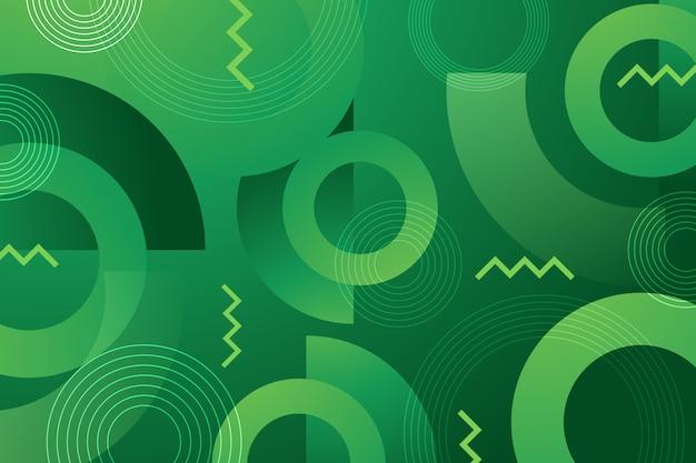 Зеленые абстрактные геометрические обои Бесплатные векторы