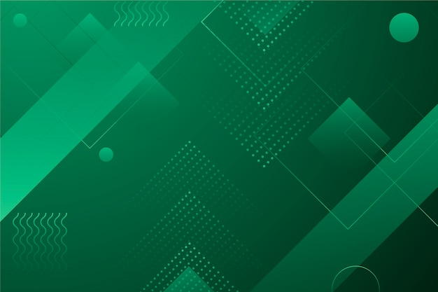 Green Abstract Geometric Wallpaper Vector Free Download