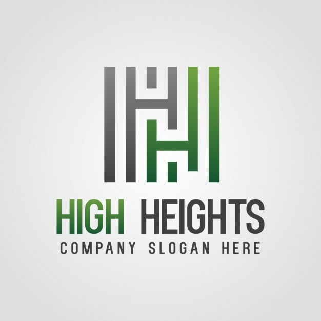 green abstract letter h logo vector | free download