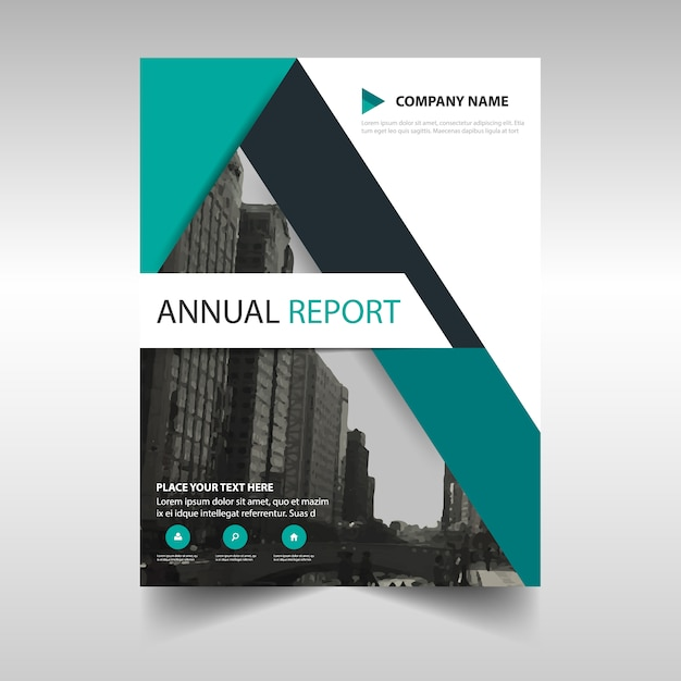 Green abstract modern annual report template Vector – Free Annual Report Templates