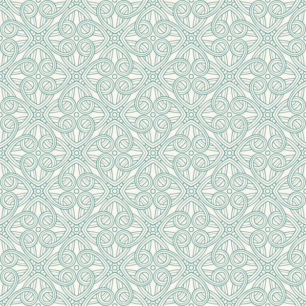 Green abstract pattern Premium Vector