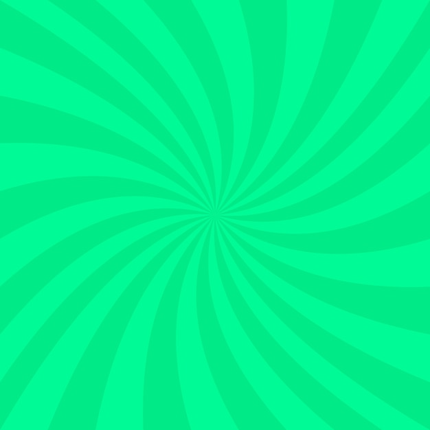 Green abstract spiral background - vector design from spinning rays Free Vector
