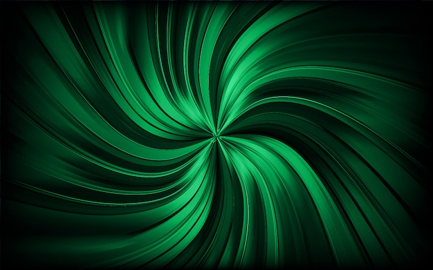 Green abstract swirl trail or tunnel. rotating sparkling background. vector Premium Vector