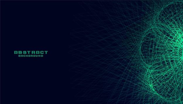 Tecnologia astratta verde linee incandescente sfondo Vettore gratuito