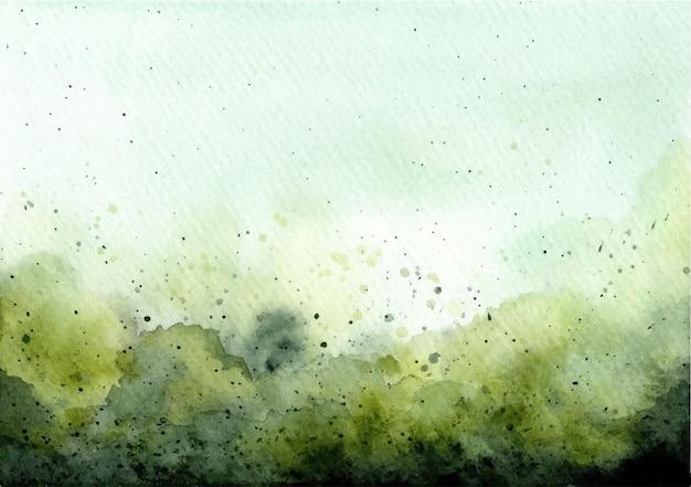 Зеленая абстрактная акварель текстуры фона Premium векторы