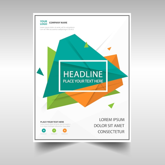 Green And Orange Business Flyer Template Vector  Free Download