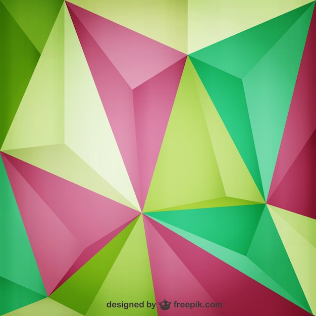 green and pink triangles background vector free download