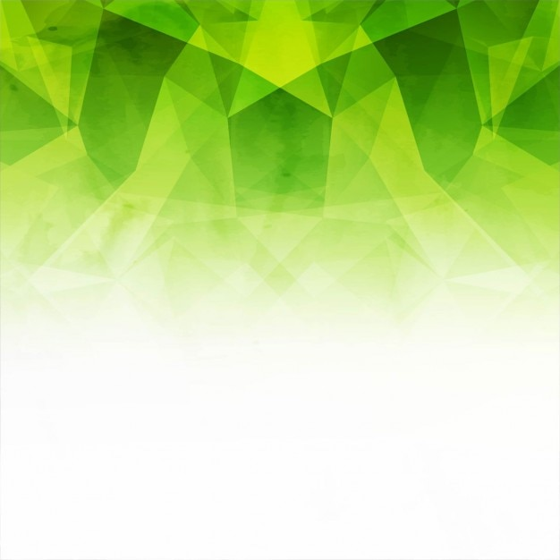 green and white polygonal background vector free download