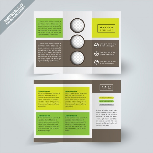 Green and yellow golf design flyer