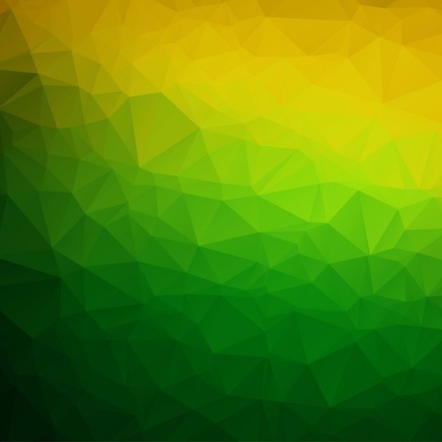 green and yellow polygonal background vector free download