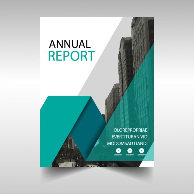 Green annual report cover template Vector | Free Download