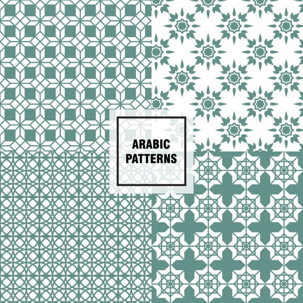 Green arabic patterns Vector | Free Download