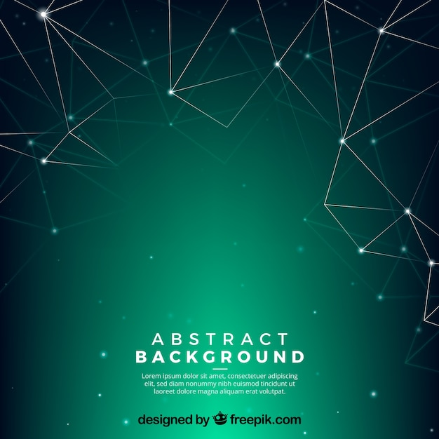 Green background in abstract style Free Vector
