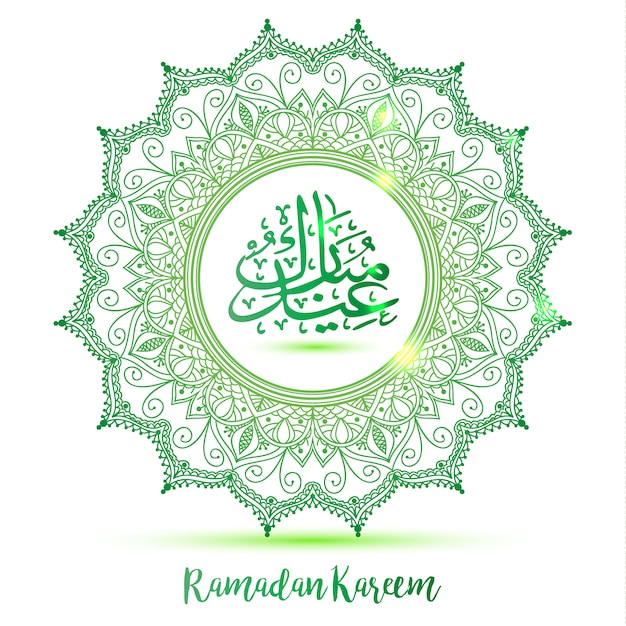 Green background for ramadan Free Vector