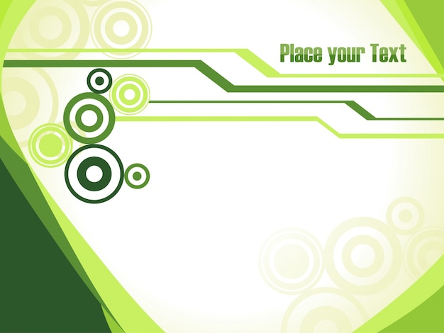 green background template with space for text vector free download