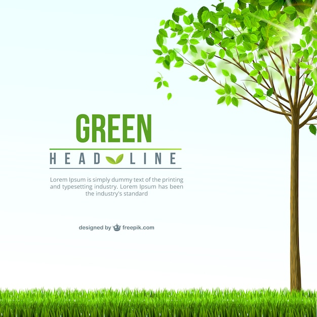 Green background template Free Vector