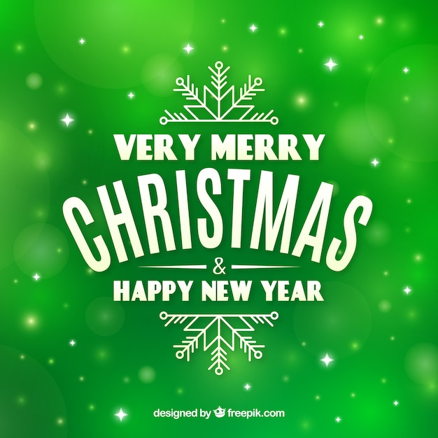 Merry En: Green Background Very Merry Christmas Vector