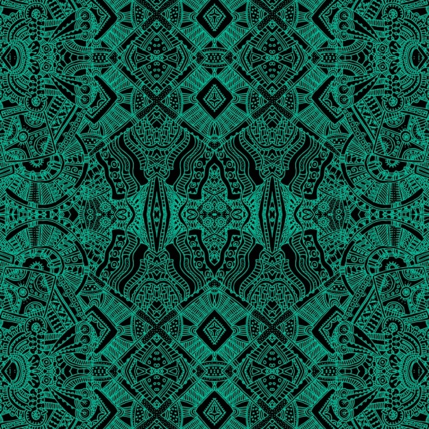Green background with aztec shapes Free Vector