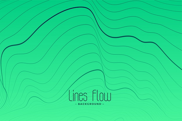 Green background with black contour lines Free Vector