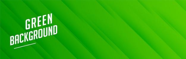 Зеленый баннер с рисунком диагональных полос Бесплатные векторы