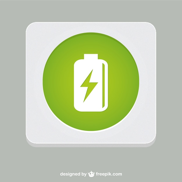 Green battery symbol Free Vector