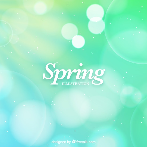 Green blurred spring background Free Vector