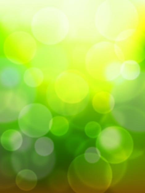 緑ボケ抽象 Premiumベクター