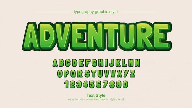 Green bold мультипликационный комикс типография Premium векторы