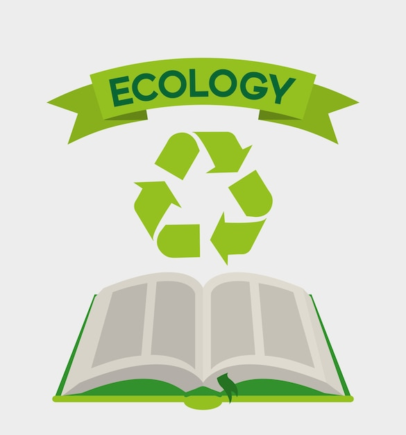 Green book Premium Vector
