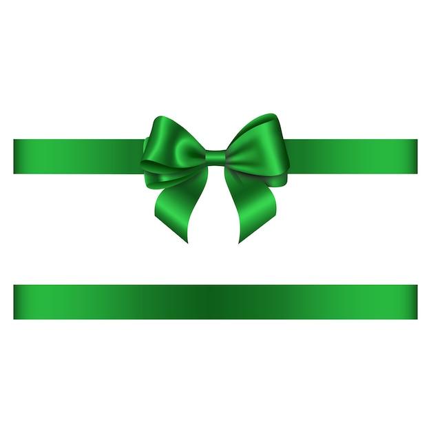 緑の弓とリボン Premiumベクター