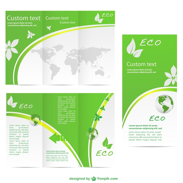 Green Brochure Template Vector Free Download - Brochure templates download