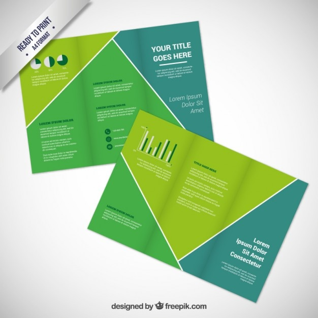 Green Brochure Template Vector  Free Download