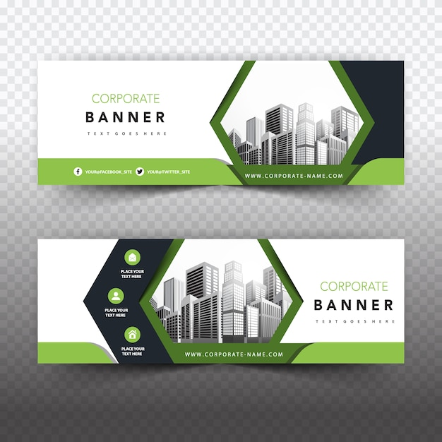 Green business banner