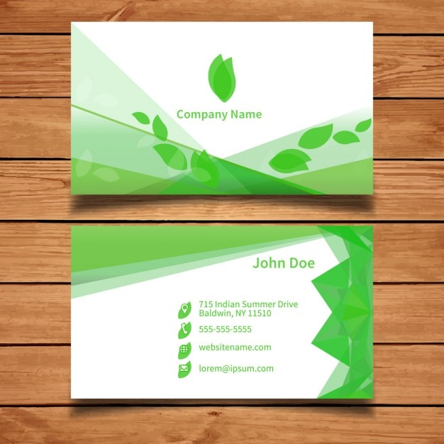 Green business card template with leaves vector free download green business card template with leaves free vector accmission Image collections