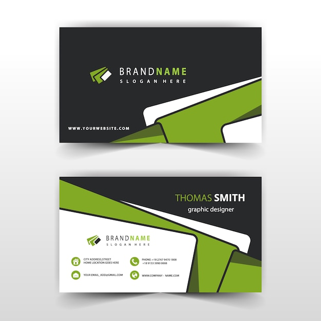 green business card template Free Vector