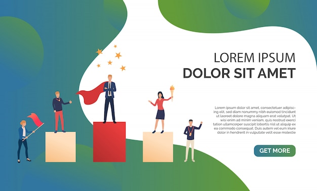 Green business presentation illustration Free Vector