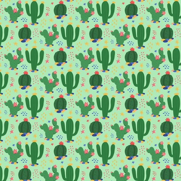 Modello di pianta di cactus verde Vettore gratuito
