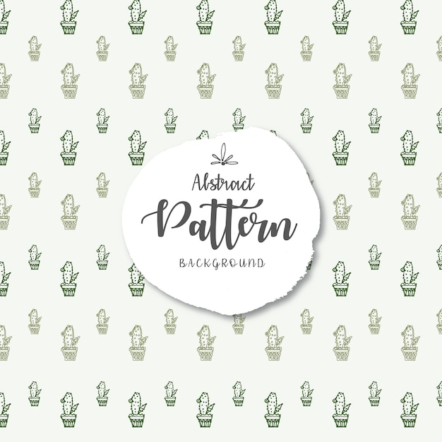 Green cactus vector seamless pattern background Free Vector