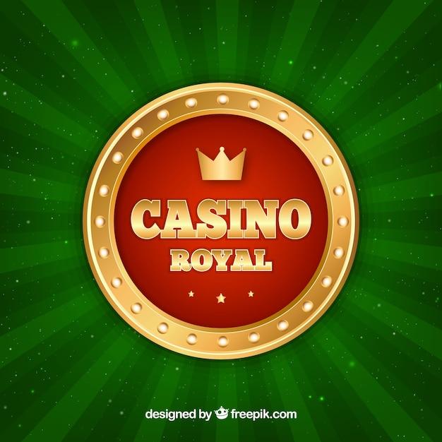 Green casino background Free Vector